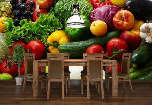 Fototapety w kuchni warzywa